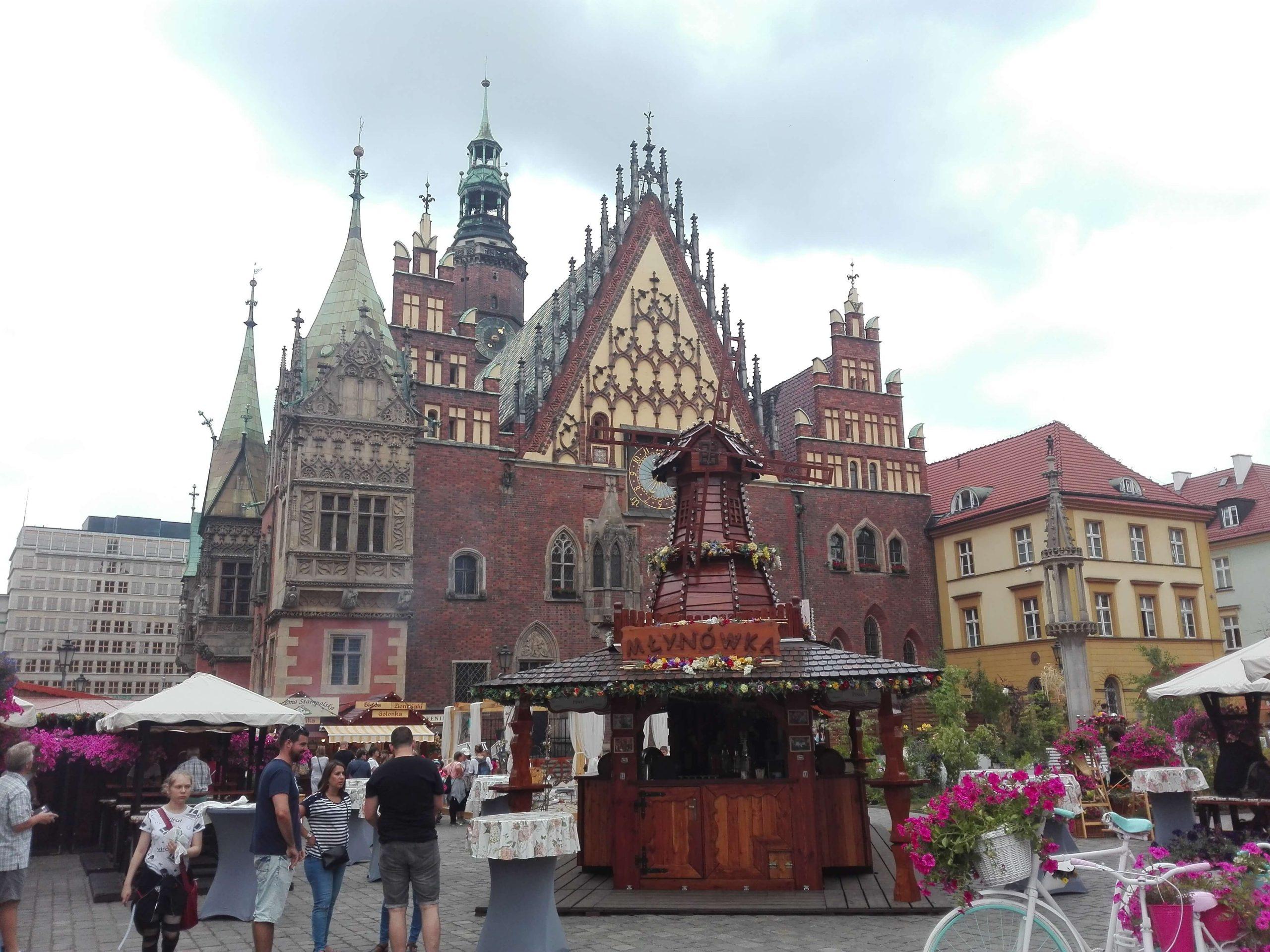 Plaza del ayuntamiento. Wrocaw