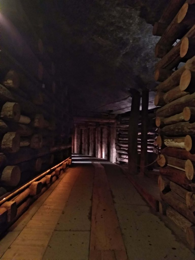 Galería de las minas de sal.