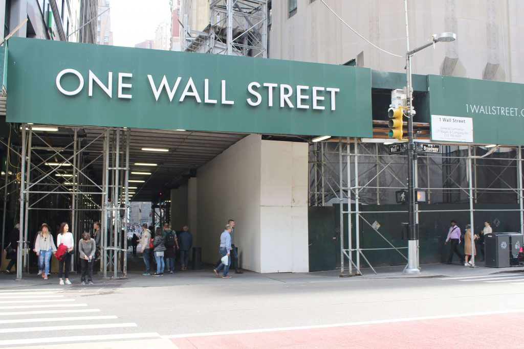 Wall street con bradway