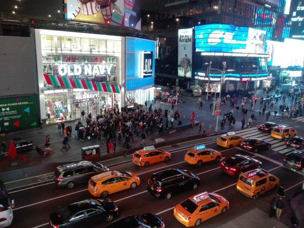 Times Square desde Minksoff Theatre