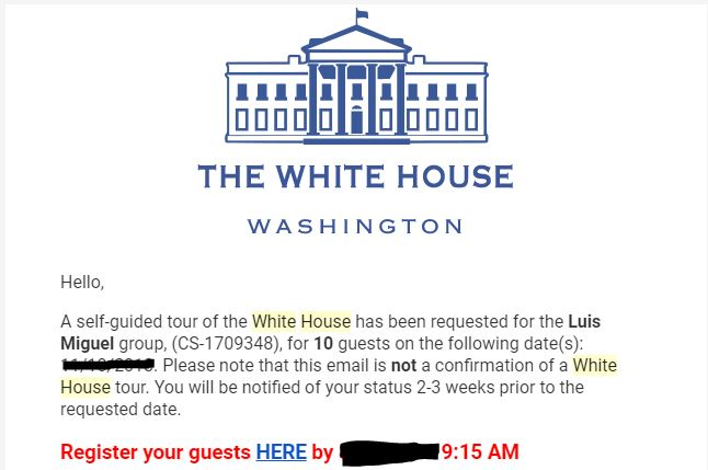 White House email
