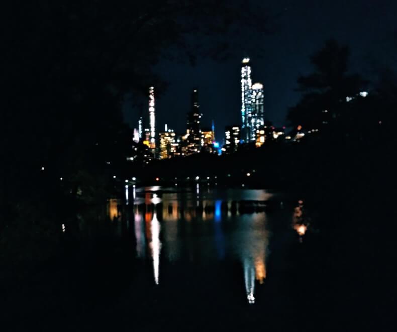 Central park de noche