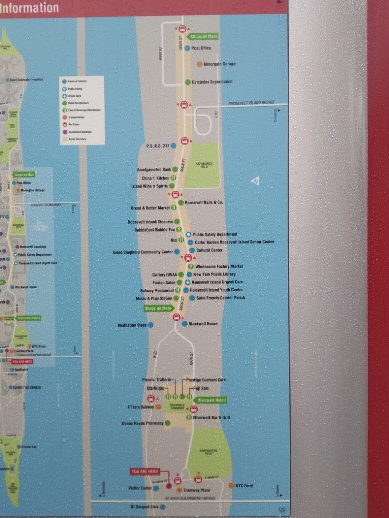 Roosevelt Island mapa