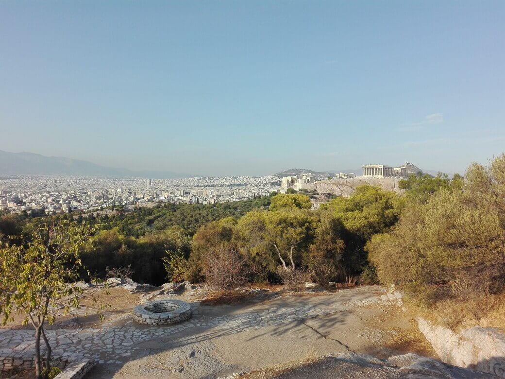 Atardecer en colina de Filopapos. Atenas