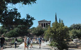 templo de hefesto en agora antigua