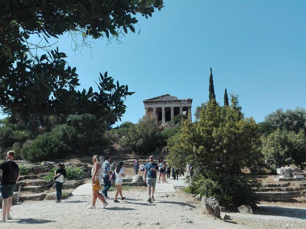 Ágora Antigua y Ágora Romana. Atenas