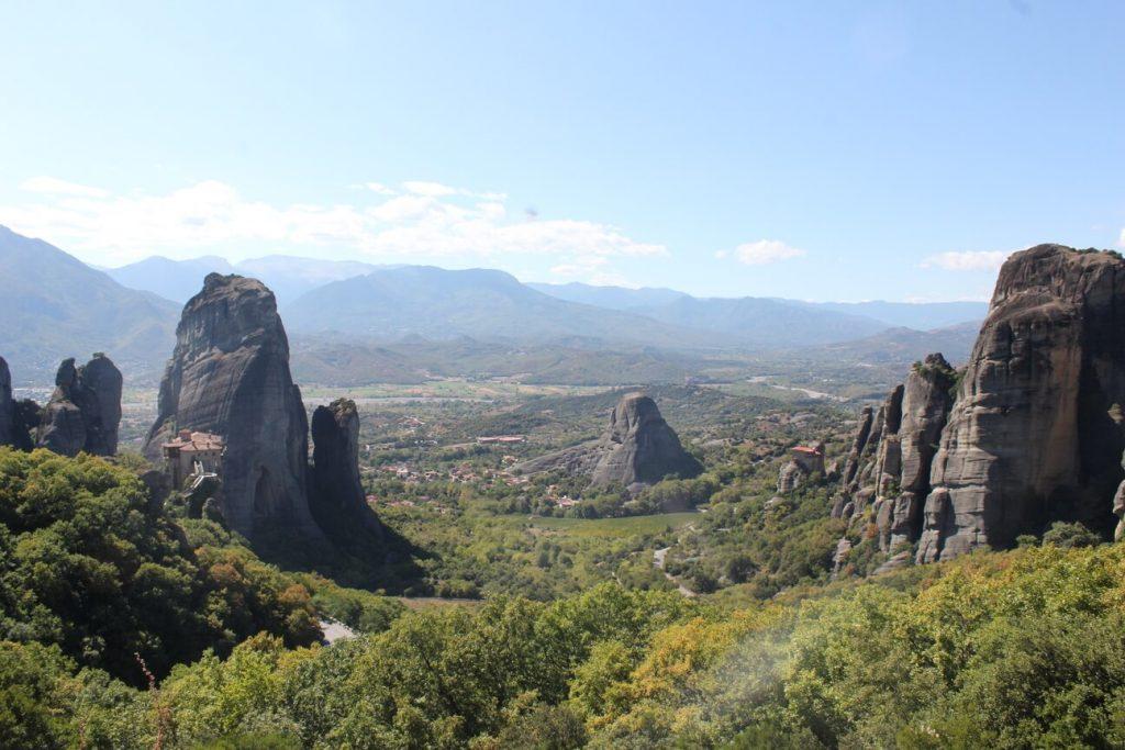 Vista de los monasterios meteora Greecia