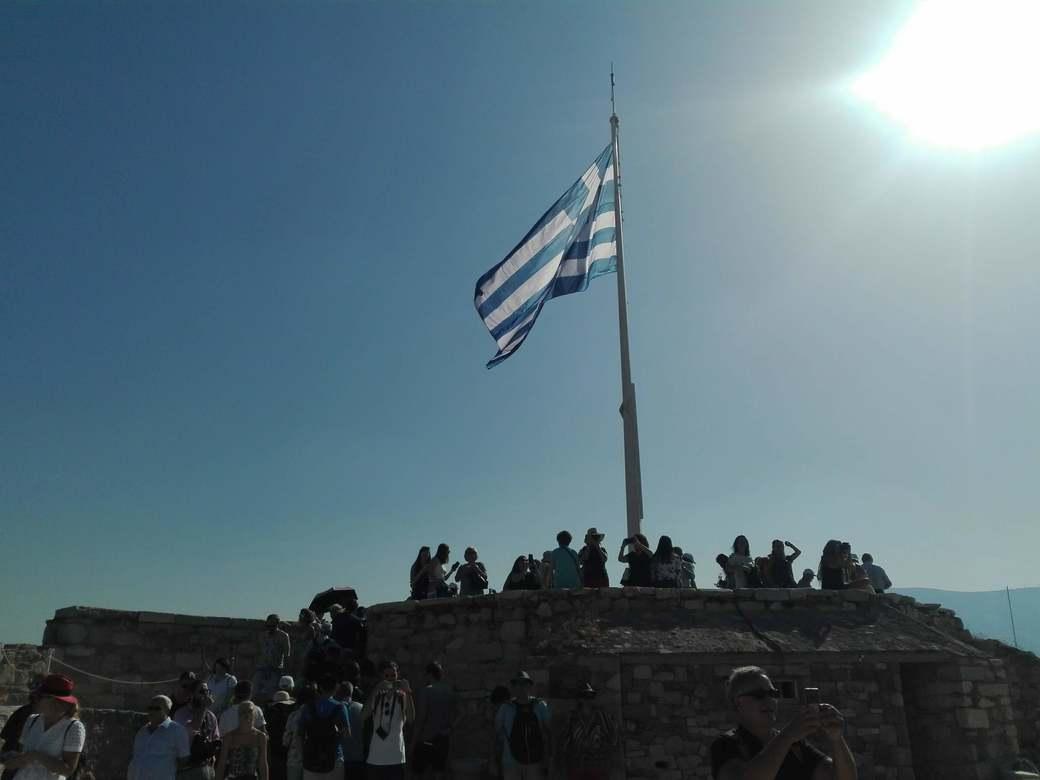 Atrapa la bandera. Acrópolis. Atenas