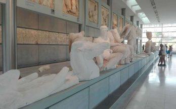 dentro del museo del acropolis